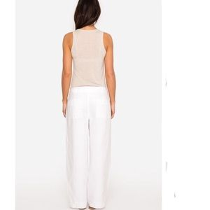 Johnny Was Pants - Johnny Was Calme Lined Linen Crop NWT $198